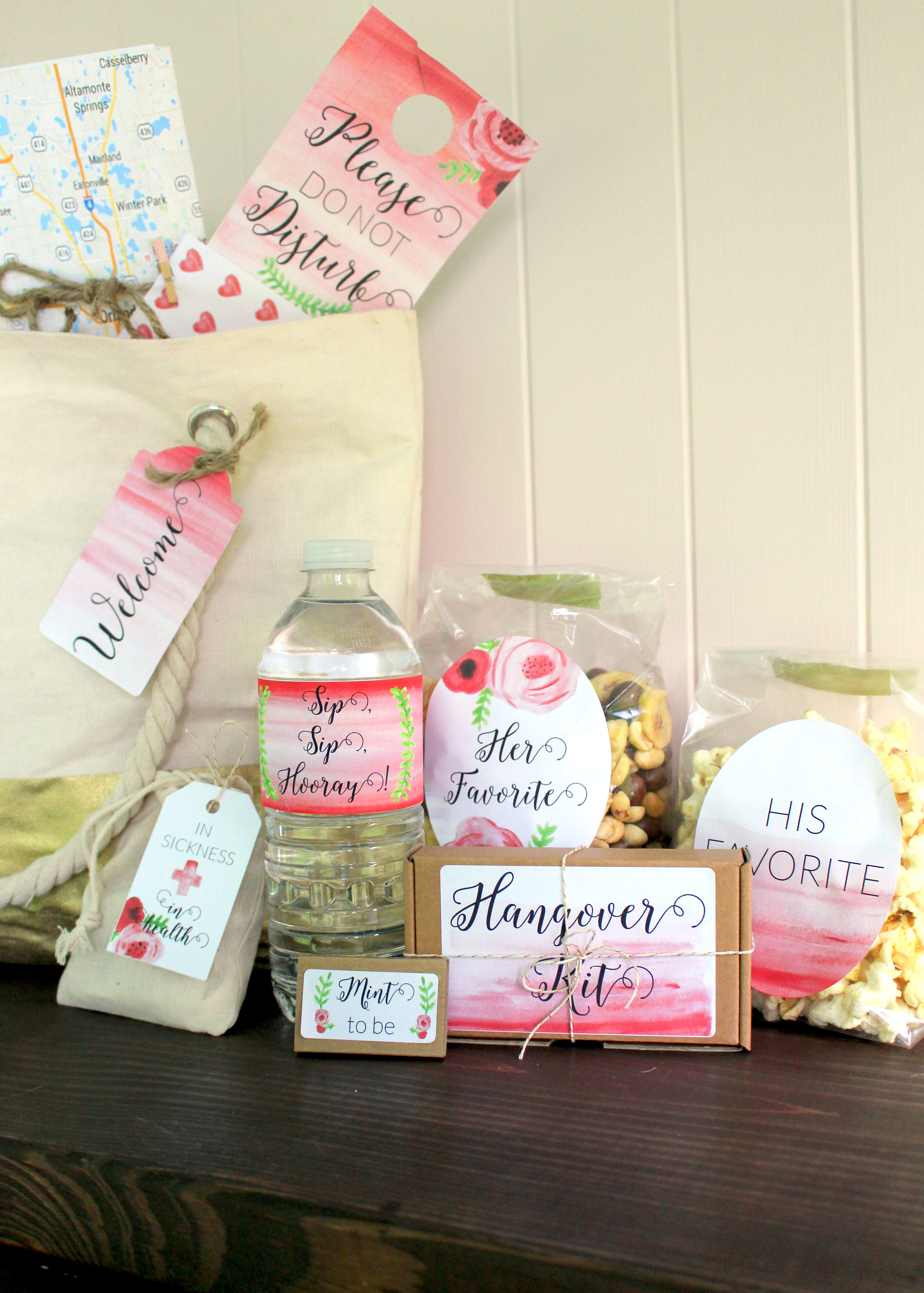 DIY // Guest Welcome Bags And FREE Wallpapers