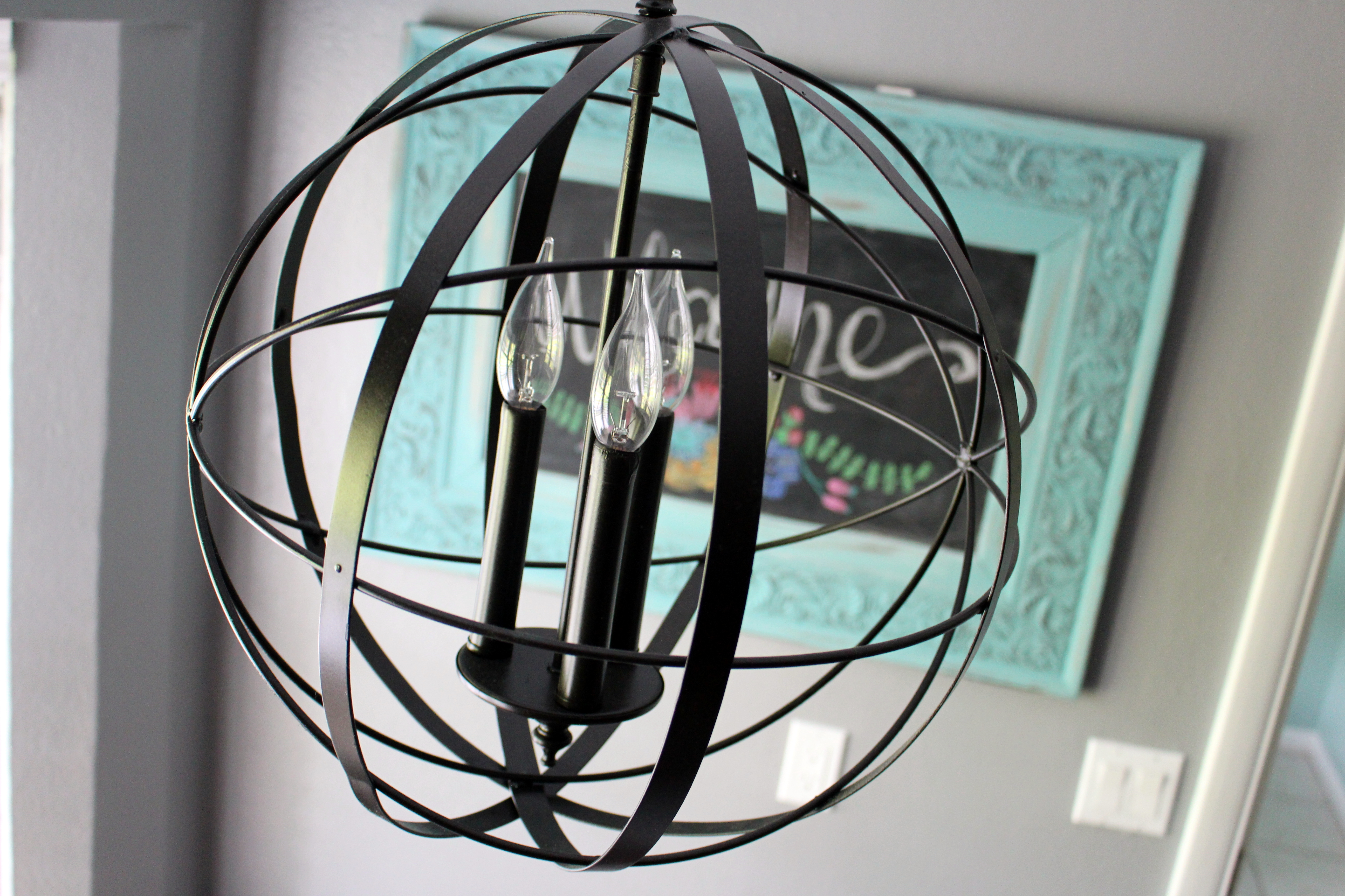 Home Project Orb Chandelier For Breakfast Nook Within