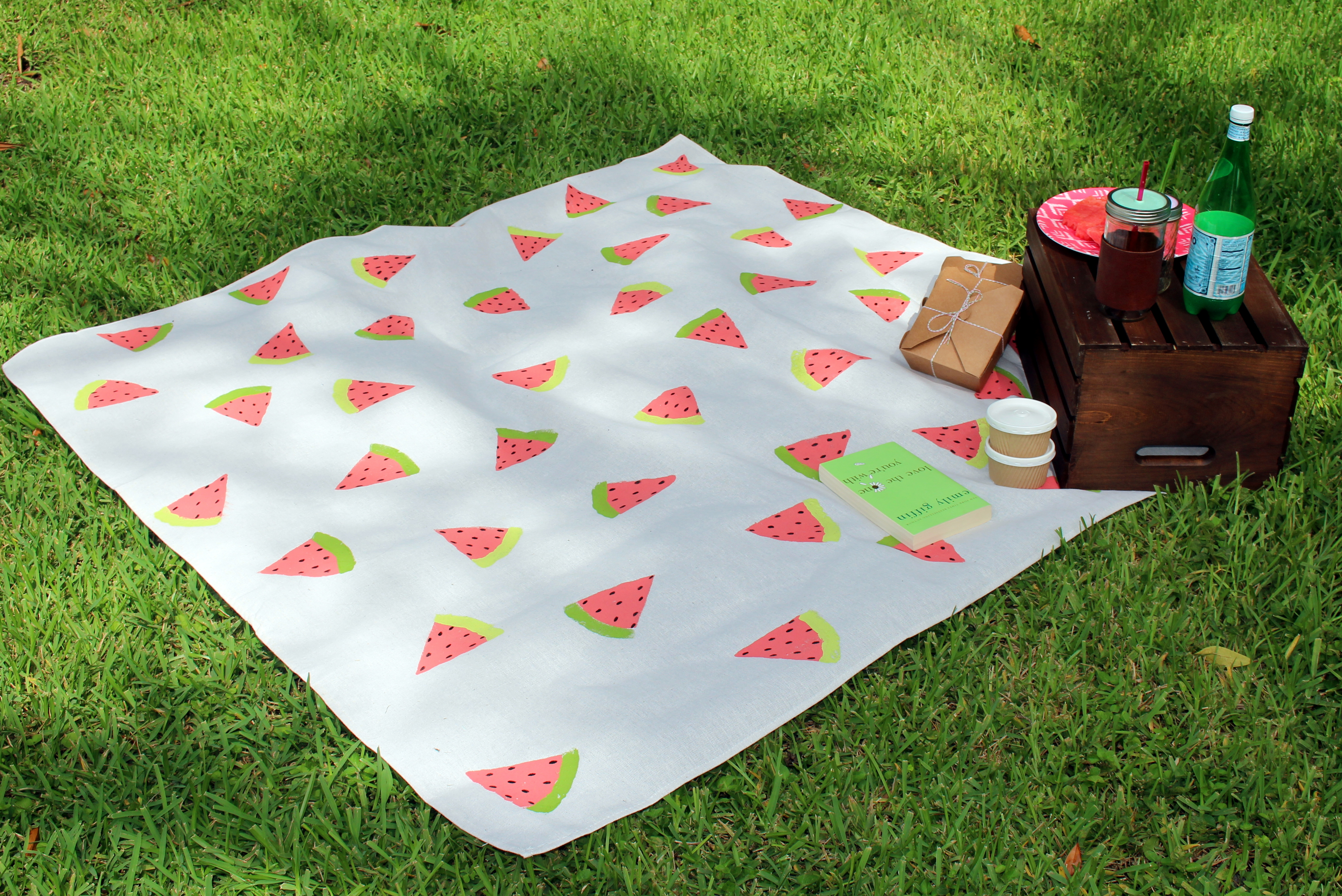 Diy Watermelon Picnic Blanket Within The Grove