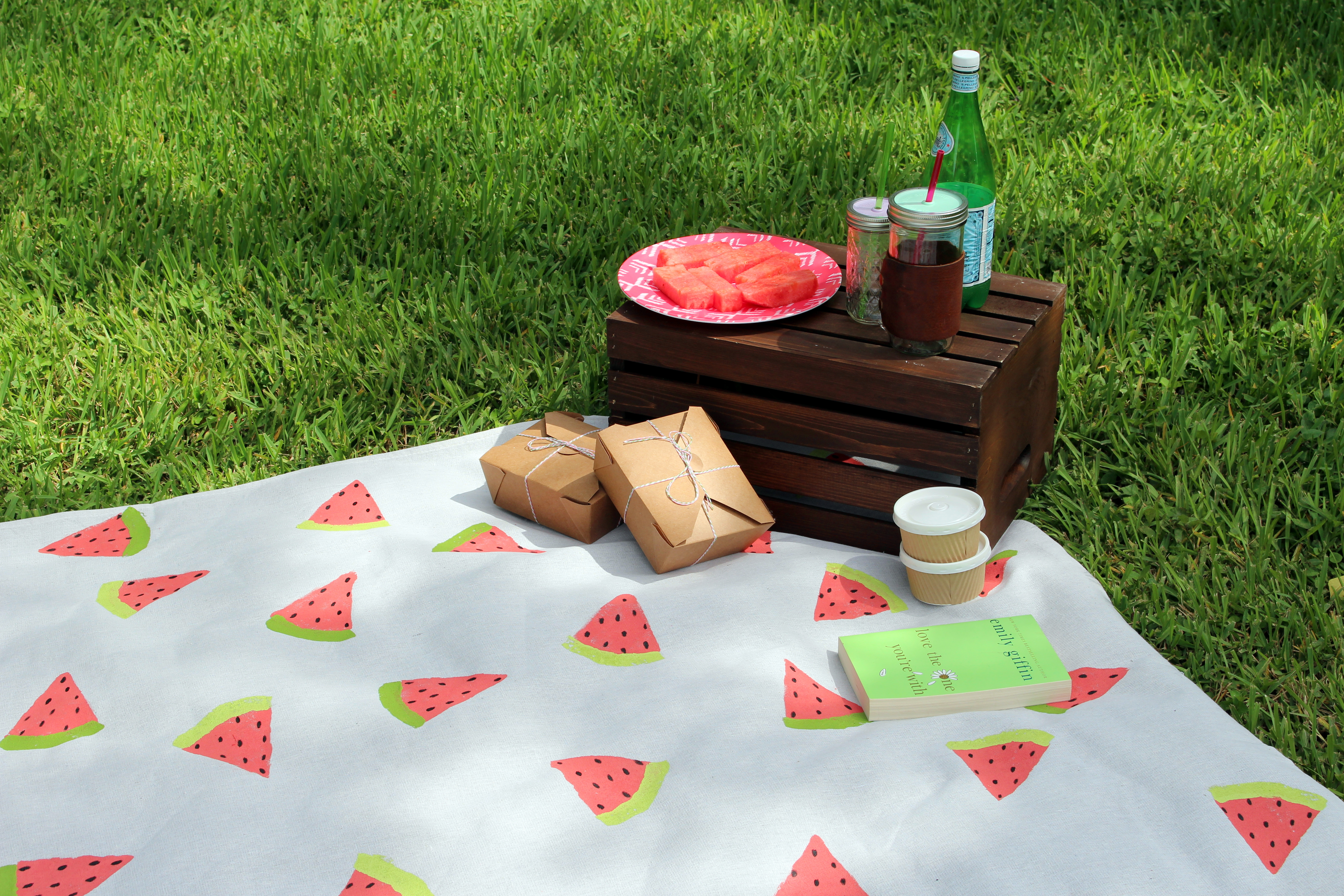 DIY // Watermelon Picnic Blanket - Within the Grove