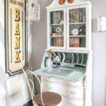 Vintage Secretary Desk Makeover by Past, Present, and Patina