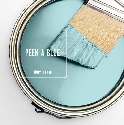 Behr Color Of The Month Peek A Blue Within The Grove