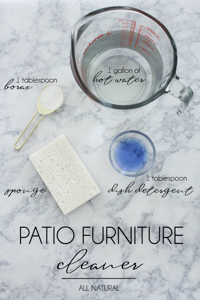 Cleaning Patio Furniture With Borax